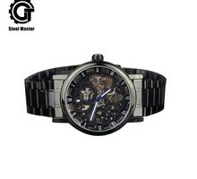 ⌚️ 2018 Men Metal Mechanical Wristwatch Bussiness Round Automatic Self-Wind Wristwatch Female Waterproof Wrist Watch Bracelet Clasp