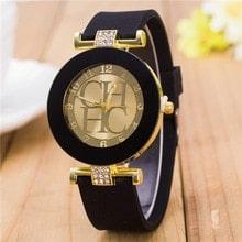 ⌚️ Fashion Brand Black Geneva Casual Quartz Watches Women Crystal Silicone Watches Relogio Feminino Dress Wrist Watch Hot sale