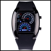 ⌚️ Fashion Watch Men Sports Led Watches Race Speed Car Meter Dial Silicone Strap Men Male Clock Hours Military Watches 6 Colors