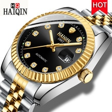 ⌚️ HAIQIN New Luxury Men Mechanical Watch Fashion Design Wristwatch Automatic Self-Wind Watch Men Calendar Clock Relogio Masculino
