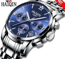 ⌚️ Haiqin Luxury Watch men Quartz Business Men's Watch Stainless Steel Military clock Sport waterproof WristWatch Relogio Masculino