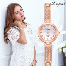 ⌚️ Lvpai Brand Fashion Women Dress Wristwatch Luxury Women Bracelet Watches Ladies Gift Quartz Rose Gold Watch Dropshiping Clock  S