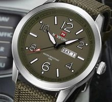 ⌚️ NAVIFORCE  Sports Men Watch Army Military Mens Watches Quartz Wristwatch Fashion Casual Date Clock Male Army Green Men's Watch