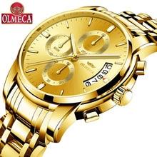 ⌚️ OLMECA New Men Watch Business Clock Full Steel Quartz Top Brand Luxury Casual Waterproof Sport Male Wristwatch Relogio Masculino
