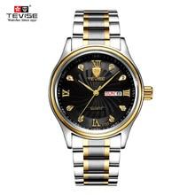 ⌚️ TEVISE Luxury Week Day Date Watch Men 2018 Waterproof Fashion Quartz Stainless Steel Wrist Watches for Men relogio masculino