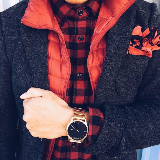 reloj de cuero para hombre