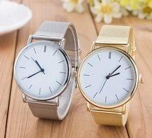 ⌚️ 2017 New Famous Brand Gold Silver Casual Quartz Watch Women Mesh Stainless Steel Dress Women Watches Relogio Feminino Clock 023