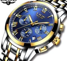 ⌚️ 2017 New Watches Men Luxury Brand LIGE Chronograph Men Sports Watches Waterproof Full Steel Quartz Men's Watch Relogio Masculino
