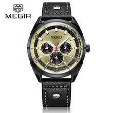 ⌚️ 2018 Hot Sports Brand MEGIR Quartz Mens Watches Leather Strap Male Wristwatch Clock Relogio Masculino