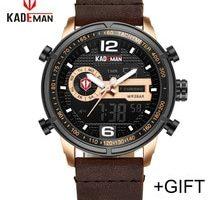 ⌚️ 2018 KADEMAN Luxury Full Steel Men Waterproof Sport Watch Men's Quartz Digital Clock Leather Man Wrist Watch Relogio Masculino