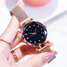 ⌚️ 2018 Luxury Women Minimalist Trend Watch Japan Quartz Rose Gold Stainless Steel Band Magnetic Clasp Wristwatches zegarek damski