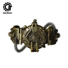 ⌚️ 2018 New Punk Retro Quartz Wristwatches Stainless Steel Steampunk Gifts Watch