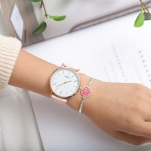 ⌚️ 2018 TIBOAT Brand Fashion Simple Japan Quartz Movement Watch Leather Strap Nylon Clock Women Analog Waterproof Wristwatch