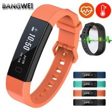 ⌚️ BANGWEI Mens Smart Wristband Bracelet Waterproof Sports Fitness Pedometer Sleep Heart Rate Monitor Digital Smart Watch Men+box
