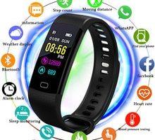 ⌚️ BANGWEI blood pressure heart rate monitor PPG ECG smart Watch Men fitness tracker Sport Pedometer Watch intelligent band+Box