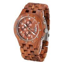 ⌚️ BEWELL Mens Unique Wooden Watch Quartz Movement Lightweight Time Luminous Date Vintage Analog Wristwatch dropship supplier 109D