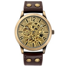 ⌚️ Classy Men's Mechanical Automatic Wristwatch for Men Mens Watch Skeleton Self Winding Roman Numbers Analog Leather Wrist Watches