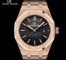 ⌚️ DIDUN Men Watches  Top Brand Luxury Quartz Watch Rosegold Male Fashion Business Watch Shockproof 30m Waterproof Wristwatch