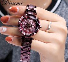 ⌚️ Dimini Fashion Luxury Women Watches Diamond Lady Watch Quartz Wrist Watch Stainless Steel Gold Ladies Watches Dropshipping Gifts