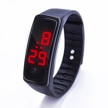 ⌚️ Fashion Men Women Casual Sports Bracelet Watches LED Electronic Digital Candy Color Silicone Wrist Watch for Children Kids