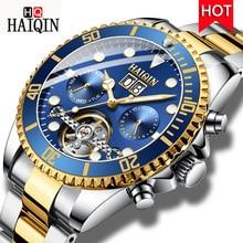 ⌚️ HAIQIN Men Automatic Mechanical Watch Luxury Brand Military Watch 100m Waterproof Wristwatch Mens Sport Clock Relogio Masculino