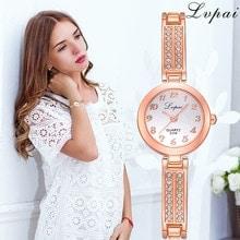 ⌚️ Lvpai Brand Fashion Women Dress Wristwatch Luxury Women Bracelet Watches Ladies Gift Quartz Rose Gold Watch Dropshiping Clock  S
