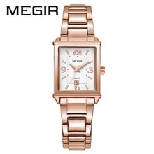⌚️ MEGIR New Stainless Steel Watches for Women Waterproof Calendar Fashion Ladies Watch Free Shipping