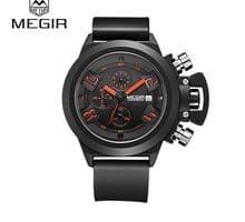 ⌚️ MEGIR Top Selling Male Wristwatches Silicone Watch Band Design Waterproof Montre Sport Clock