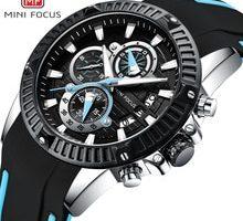 ⌚️ MINI FOCUS Fashion Military Sport Watch Quartz Silicone Chronograph Wrist Waches Men Waterproof Calendar reloj masculino 2018