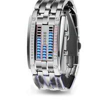 ⌚️ Men Women Creative Stainless Steel LED Date Bracelet Watch Binary Wristwatch Electronics  Fashion  Casual  dropshipping