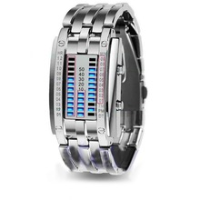 ⌚️ Men Women Creative Stainless Steel LED Date Bracelet Watch Binary Wristwatch Electronics  Fashion  Casual  dropshipping