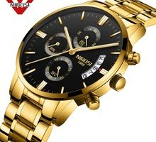 ⌚️ NIBOSI Men's Watch Luxury Stainless Steel Casual Wristwatches Business Calendar Luminous Quartz Movement Watches Time Relogio