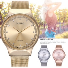 ⌚️ New Arrival Luxury Rose Gold Watch Casual Women Rhinestone Quartz Watches Fashion Mesh Wristwatch Women reloj digital mujer