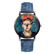 ⌚️ New Brand Top Women Watch Fashion Casual Portrait Dial Plate Quartz Watch Denim With Clock Unisex Relogio Masculino