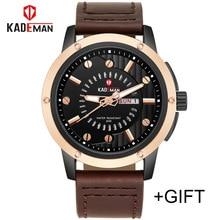 ⌚️ New Luxury Brand KADEMAN Men Classic Military Watches Men's Quartz Full Steel Clock Male Sports Wrist Watch Relogio Masculino