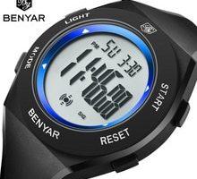 ⌚️ New luxury brand men's watch men Military waterproof watches men full steel LED Digital male watch BENYAR 2018