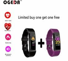 ⌚️ OGEDA New Smart Sports Bracelet Watch Health Heart Rate Monitoring Fitness Tracker IP67 Waterproof Bluetooth for Android ios