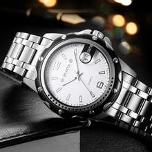 ⌚️ Relogio Masculino Watches Men Sport Wristwatch Quartz Dial Alloy Case Stain Steel Strip Waterproof Male Clock Watch S504