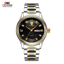 ⌚️ TEVISE Luxury Week Day Date Watch Men 2018 Waterproof Fashion Quartz Stainless Steel Wrist Watches for Men relogio masculino